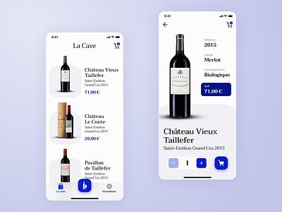 La Cave - Concept Wine App interface figmadesign figma mobile app mobile ui wine webdesign concept design uidesign ui app design mobile app