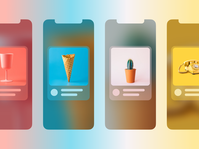 Card Items - Concept app color blurry paging pagination userinterface articles uidesign figma figmadesign interface design items application card ui app design app