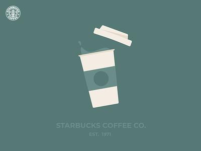 Starbucks logo corporate branding poster flat design starbucks