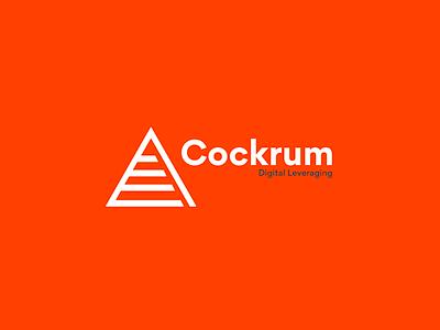 Cockrum Digital Leveraging startup icon branding logo sketch design