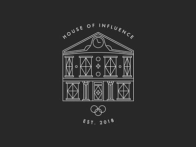 House of Influence media startup icon logo branding sketch design