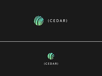 Cedar Offical code logo media startup icon logo branding sketch design