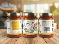 Hand Crafted Salsa Label Design