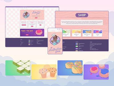 The Muffin Man Gives web design ui design illustration