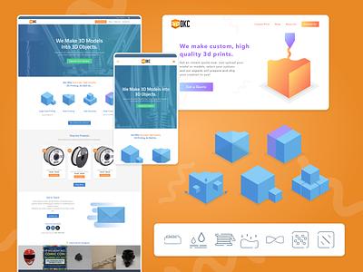 3D Print OKC web icon ui design web design illustration