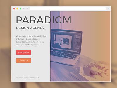 PARADIGM Landing Page practice website landing branding web web design ui design