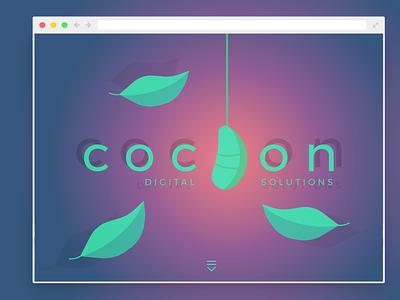 COCOON Landing Page illustration web web design ui design