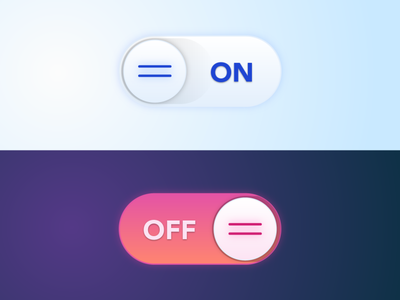 On/Off Toggle Switch vector icon illustration ui design