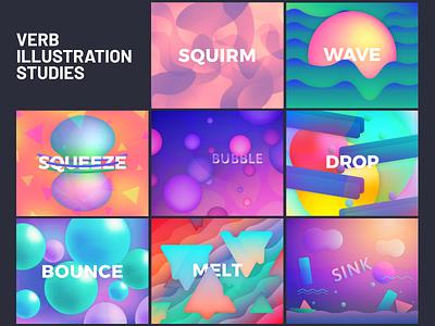 Verb Illustration Studies graphic design vector logo design study illustration