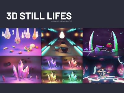 3D Still Lifes art 3d modeling 3d illustration design