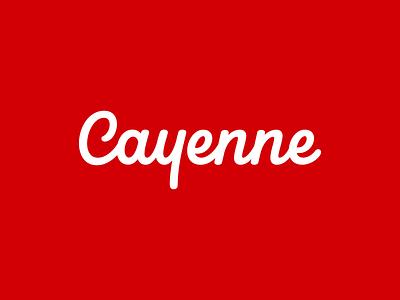 Cayenne Lettering design calligraphy brand custom hand lettering script wordmark typography type logotype logo identity handlettering branding lettering