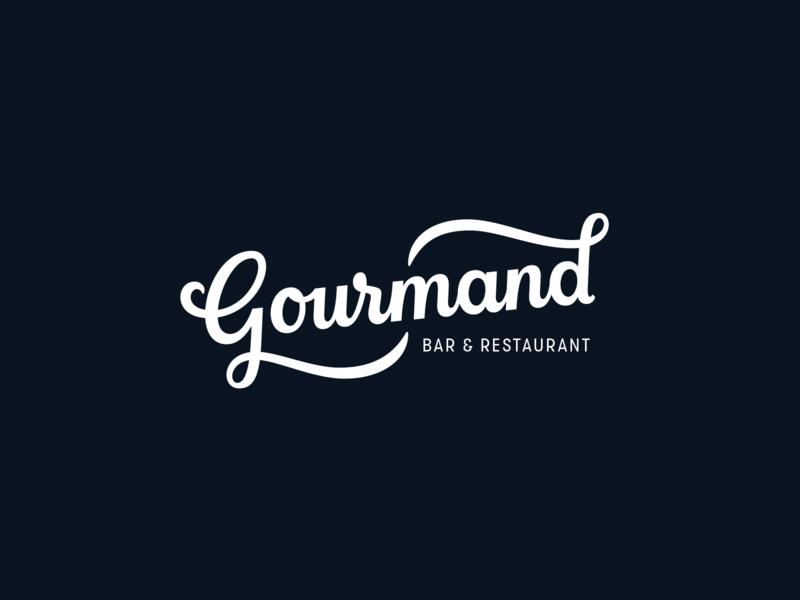 Gourmand - Handlettered logo hand lettering handlettering script identity custom type logodesign typography lettering wordmark logotype calligraphy logo design logo handlettered brand branding