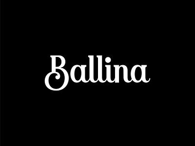 Ballina - Custom logotype design hand lettering wordmark typography type script logotype logo design logo lettering identity handlettering custom calligraphy branding brand