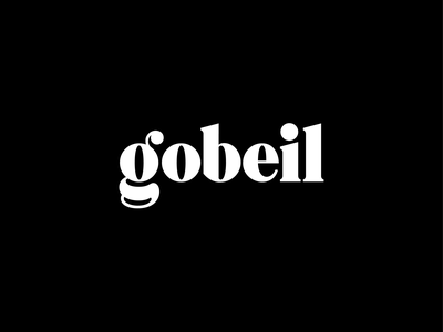 Gobeil - Custom Wordmark serif hand lettering script logotype typography wordmark type branding logo design logo lettering identity handlettering custom brand