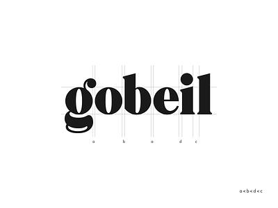 Gobeil logo design serif typeface vector design hand lettering logotype typography script wordmark type logo lettering identity handlettering custom branding brand