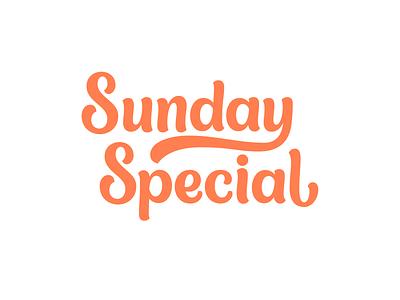 Sunday Special Lettering vector design logo design hand lettering wordmark typography type script logotype logo lettering identity handlettering custom branding