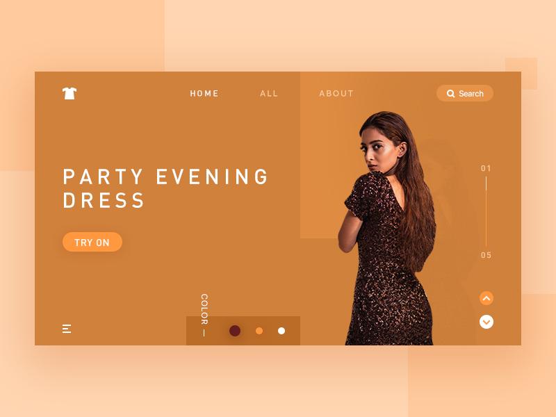 Party Evening Dress 复古 穿衣搭配 fashion webdesign ui