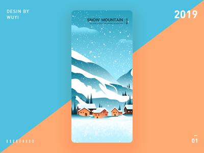 Daily practice 01— Snow Mountain