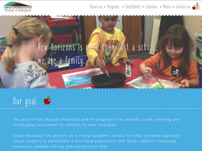 Preschool site redesign website redesign preschool