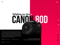 Canon Landing page - Redesign