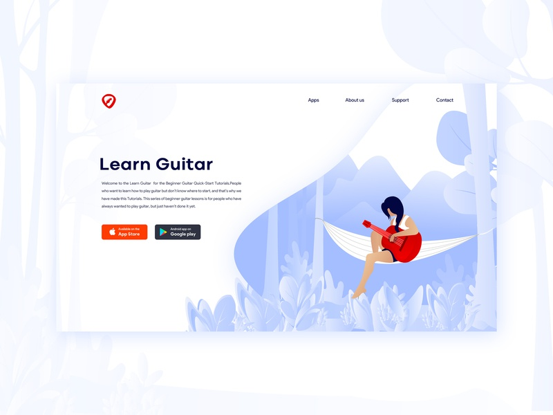 Landing Page - Learn Guitar web  design web ad ui  ux illustraion landing page