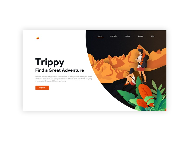 Travel character illustration illustrator web experience design