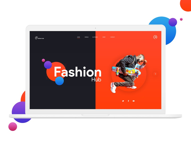 Fashion hub gradient background design experience design