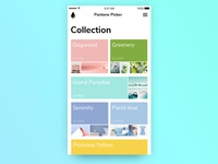 Screen with pantone color collection