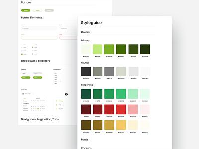 Styleguide brand branding brand identity brand design minimal green web design product design typography clean web ux design ui styleguide