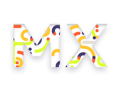 DESIGN TO THE MX prompt login playoffs design challenge creative colors gradient pattern art pattern typography web ux ui clean mx logitech