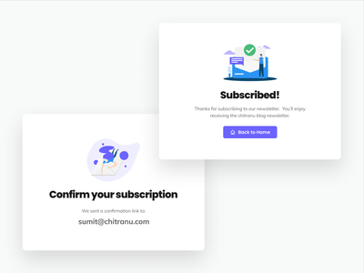 Blog subscription - Modals subscribe subscription box email illustration user interface user experience typography clean modal design modal box modals web design ui