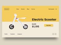 Electric scooter shop concept design