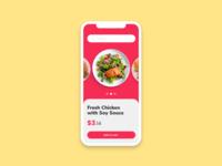 Fresh food app order concept