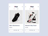 Shoes Shopping App Concept