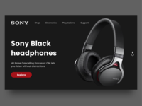 Headphone eCommerce website concept