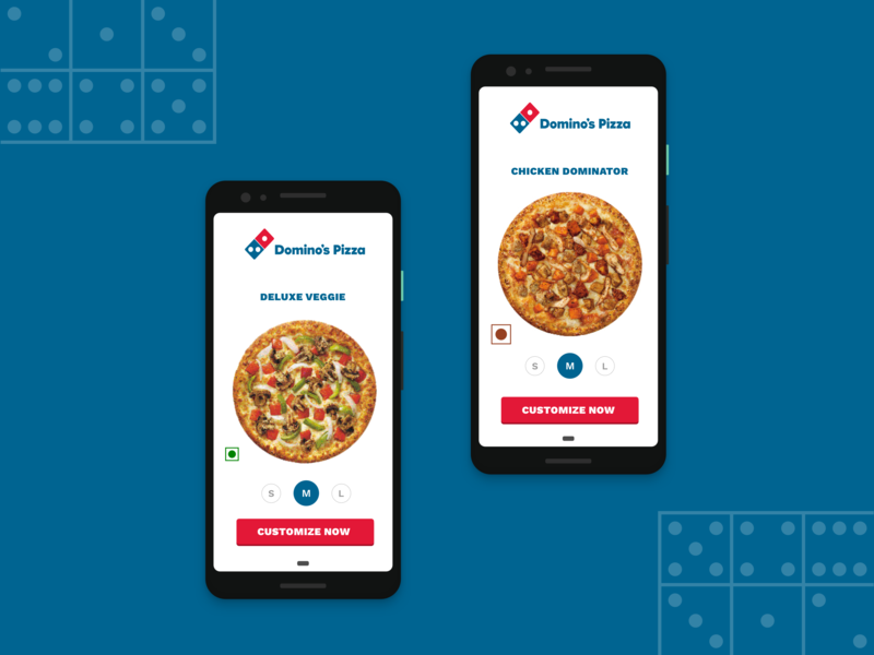 Dominos Pizza Redesign app branding ios vector illustration icon flat animation ecommerce color mobile app design app design app concept app minimal clean cover design typography ux ui design