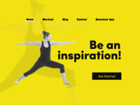 Fitness Webpage Concept