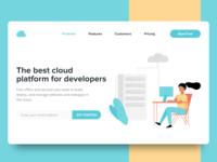 Cloud Startup Concept