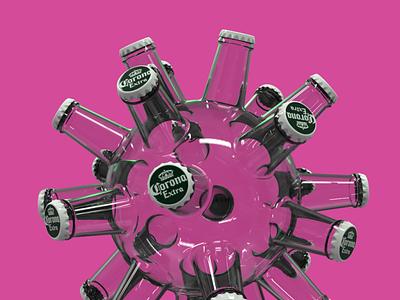 Corona Virus corona coronavirus fusion360 3d art render