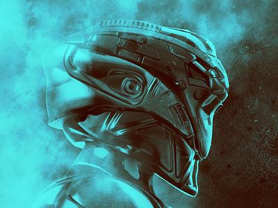 Armor scifi concept art 3dcoat 3d art render
