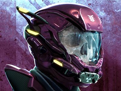 Skeleton Trooper concept art illustration scifi 3d art 3dcoat render