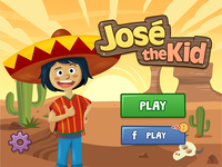 José The Kid - Mobile Puzzle Game - Main screen