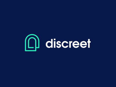 Discreet Logo type typography old retro style beautiful amazing inspiration bold design process icon symbol identity branding abstract logo concept clean identity mark security safety company