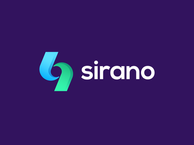 Sirano Logo creative minimal design make money pricing free rides green blue colors symbol clean bold elegant gradient mark
