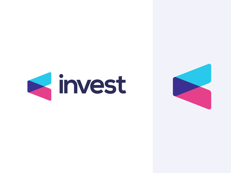 Invest Logo personal finance invest investing branding brand identity visual brand money business wallet symbol financial portal