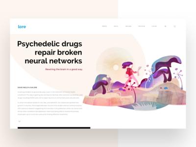 lore's article Illustration web vector ui tags illustration editorial drug