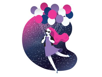 Balloons ukraine balloons sky web vector editorial character interface ui iphone ios illustration
