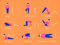 YOGA character workout yoga girl ukraine procreate illustration