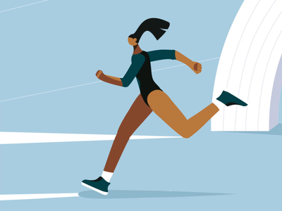 Wizz Air Kyiv City Marathon 2019 frame by frame animation cel animation character character animation illustration 2d illustration after effects 2d animation