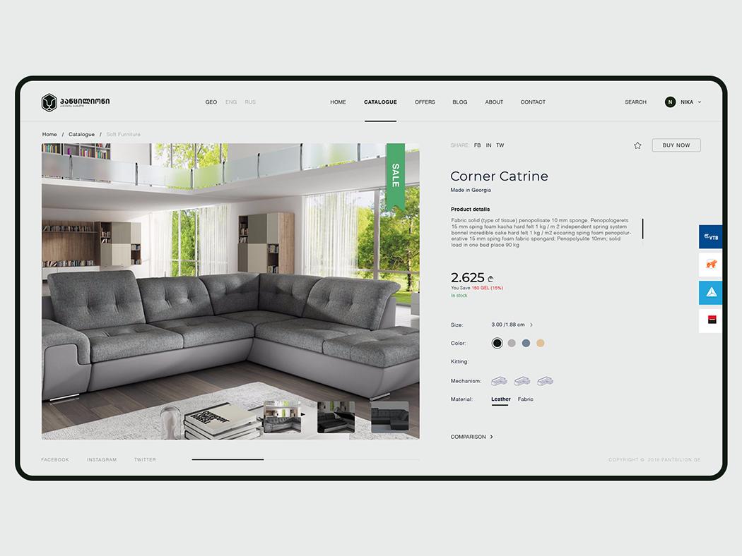Pantsilion - Furniture House / Web Design / UI/UX ecommerce design ecommerce furniture store furniture ux design uxdesign ux  ui uxui ux ui design uidesign ui  ux uiux ui website design web design webdesign website web